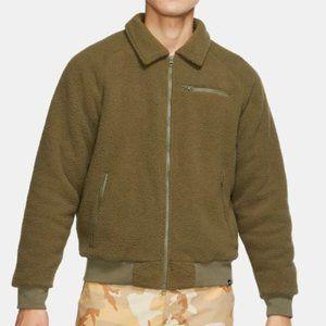 nike sb sherpa fleece bomber jacket [nwt]
